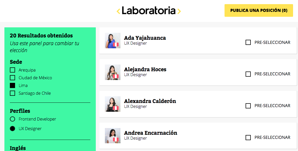 Dashboard Plataforma Tecnológica de Laboratoria